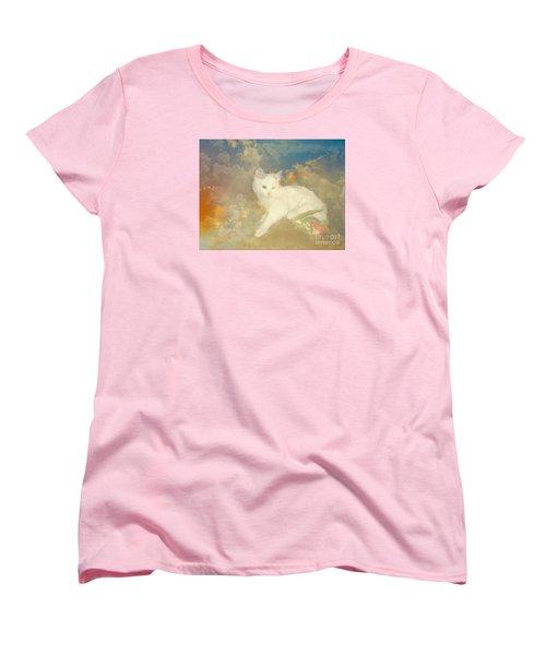 Kitty Art Precious By Sherriofpalmsprings Women's T-Shirt (Standard Cut) by Sherri's Of Palm Springs