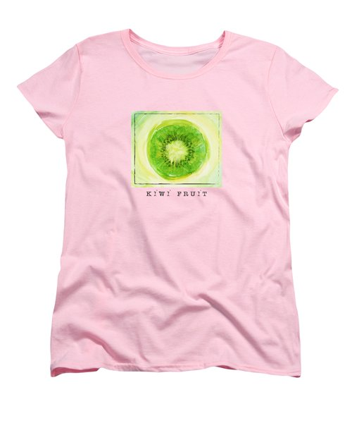 Kiwi Fruit Women's T-Shirt (Standard Cut) by Kathleen Wong