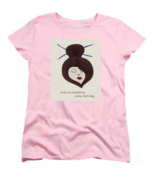 Women's T-Shirt (Standard Cut) featuring the drawing Knitty Girl by Frank Tschakert