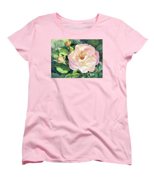 Knockout Rose And Buds Women's T-Shirt (Standard Cut) by Vikki Bouffard