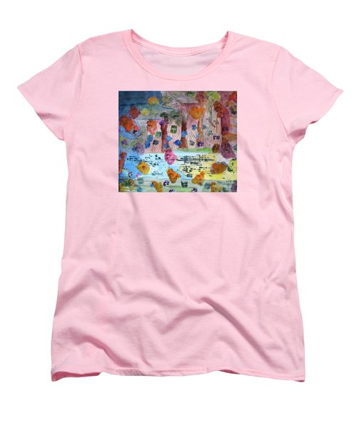 Women's T-Shirt (Standard Cut) featuring the painting La-la Land by Sandy McIntire
