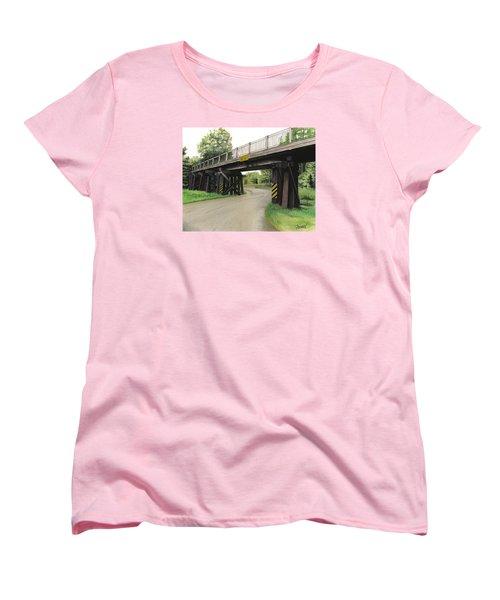 Lake St. Rr Overpass Women's T-Shirt (Standard Cut) by Ferrel Cordle