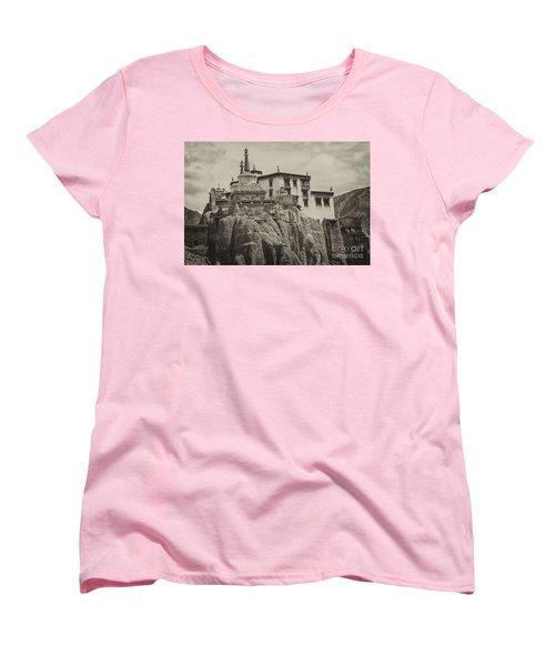 Lamayuru Monastery Women's T-Shirt (Standard Cut) by Hitendra SINKAR