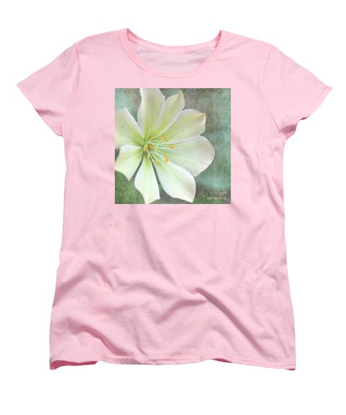 Women's T-Shirt (Standard Cut) featuring the pyrography Large Flower by Lyn Randle