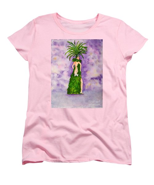 Women's T-Shirt (Standard Cut) featuring the painting Las Vegas Show Girl by Vicki  Housel