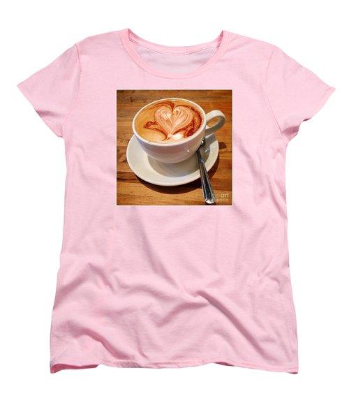 Latte Love Women's T-Shirt (Standard Cut) by Susan Garren