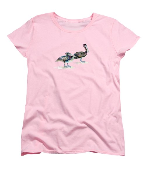 Laurel And Hardy, Brown Pelicans Women's T-Shirt (Standard Cut)