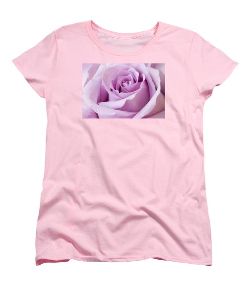 Lavender Rose Just About Perfect  Women's T-Shirt (Standard Cut) by Sandra Foster