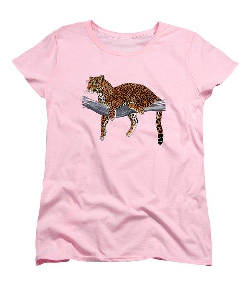 Leopard Women's T-Shirt (Standard Cut) by Alexandra Panaiotidi