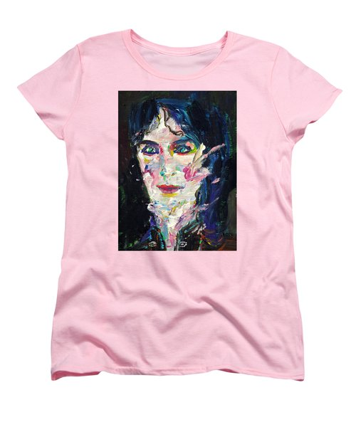 Women's T-Shirt (Standard Cut) featuring the painting Let's Feel Alive by Fabrizio Cassetta