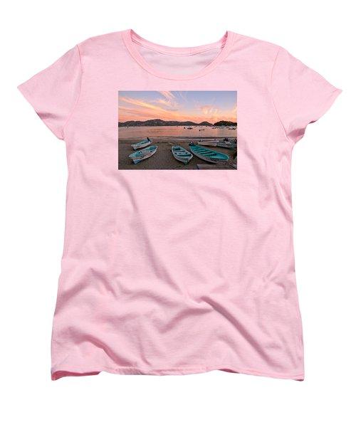Life In A Fishing Village Women's T-Shirt (Standard Cut) by Jim Walls PhotoArtist