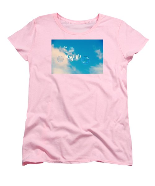 Life Is A Game Women's T-Shirt (Standard Cut) by Robin Dickinson