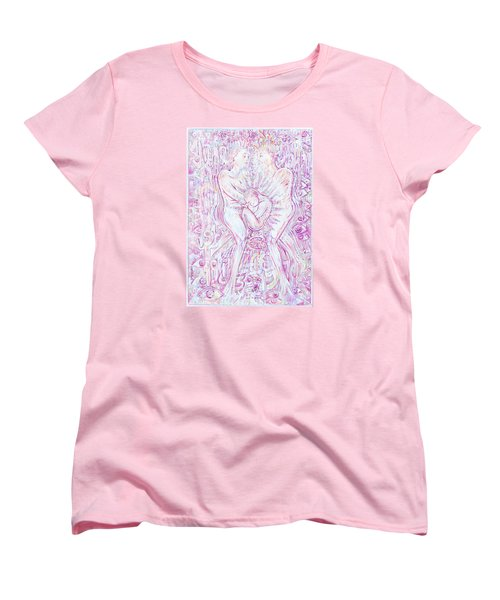 Women's T-Shirt (Standard Cut) featuring the mixed media Life Series 6 by Giovanni Caputo
