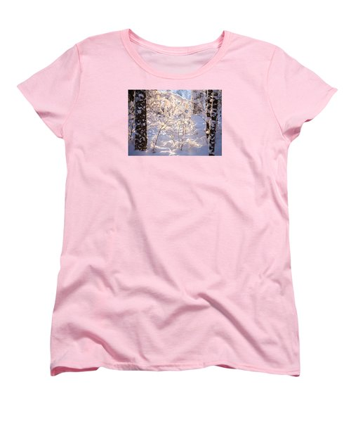 Women's T-Shirt (Standard Cut) featuring the photograph Light Of Winter by Rose-Maries Pictures