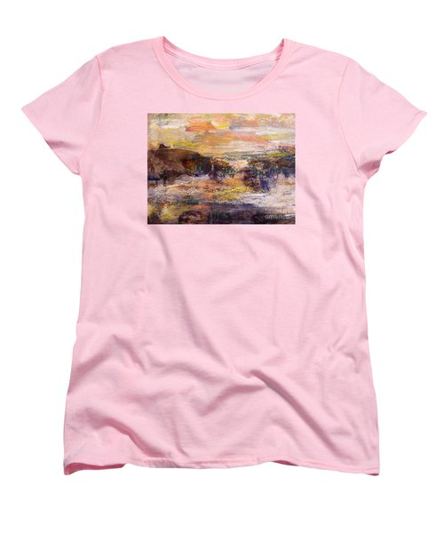 Light Show At Dawn Women's T-Shirt (Standard Cut) by Nancy Kane Chapman