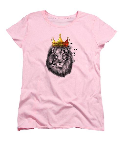 Lion King  Women's T-Shirt (Standard Cut) by Mark Ashkenazi