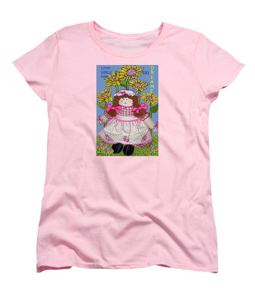 Little Girls Have Big Dreams Women's T-Shirt (Standard Cut) by Suzanne Theis