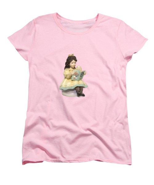 Little Miss Muffet Cutout Women's T-Shirt (Standard Cut) by Linda Phelps