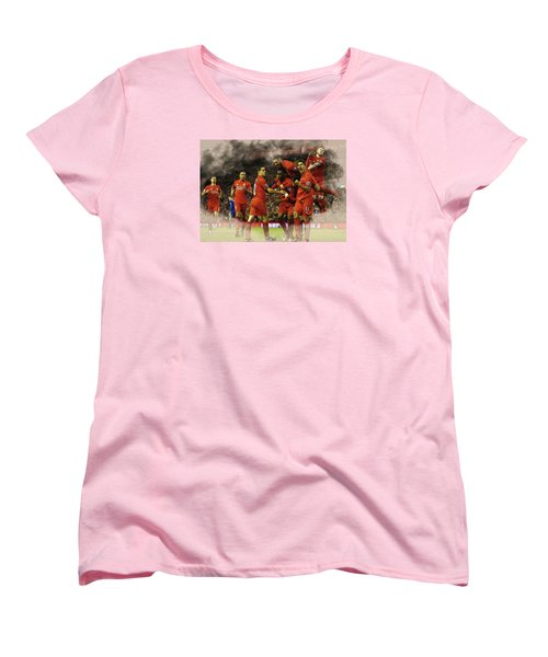 Liverpool V Leicester City Women's T-Shirt (Standard Cut) by Don Kuing