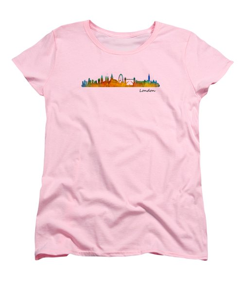 London City Skyline Hq V1 Women's T-Shirt (Standard Cut) by HQ Photo