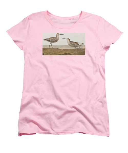 Long-legged Sandpiper Women's T-Shirt (Standard Cut) by John James Audubon