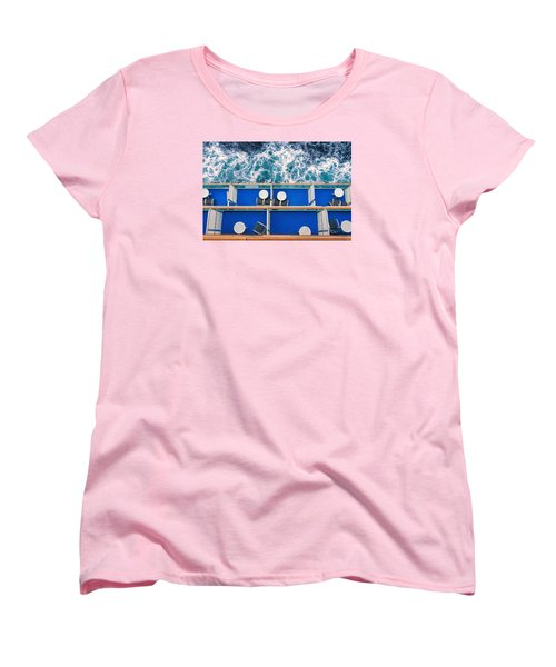 Looking Down At Sea Women's T-Shirt (Standard Cut) by Lewis Mann