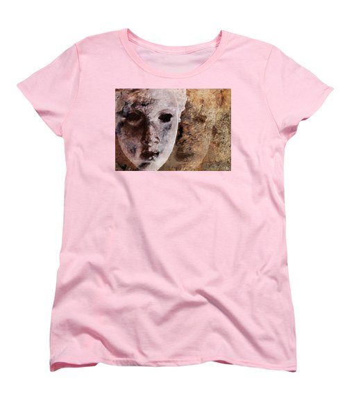 Loosing The Real You Behind The Mask Women's T-Shirt (Standard Cut) by Gun Legler