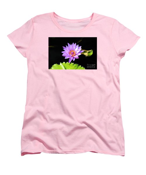 Lotus Splendor Women's T-Shirt (Standard Cut) by Deborah Crew-Johnson