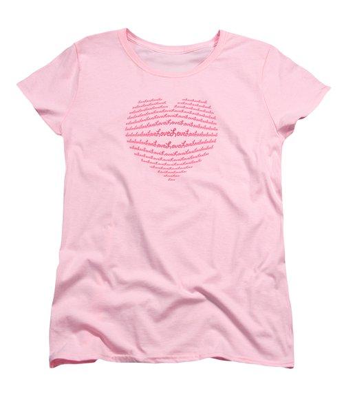 Love Boom Women's T-Shirt (Standard Cut) by Scott Carruthers