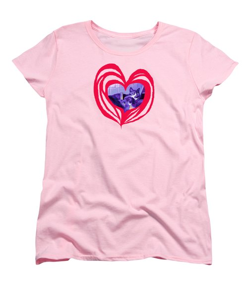 Loveheart Kitty Women's T-Shirt (Standard Cut) by Mary Armstrong