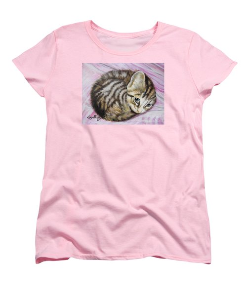 Women's T-Shirt (Standard Cut) featuring the painting Lucy Girl by Sigrid Tune