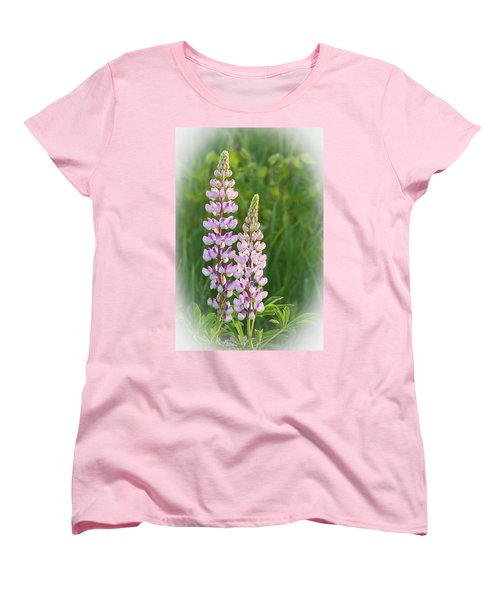Lupine Pair Women's T-Shirt (Standard Cut) by Paul Miller