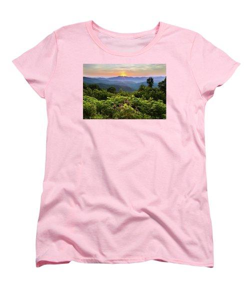Lush Sunset In June Women's T-Shirt (Standard Cut) by Deborah Scannell