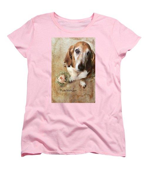 Made With Love II Women's T-Shirt (Standard Cut) by Joan Bertucci