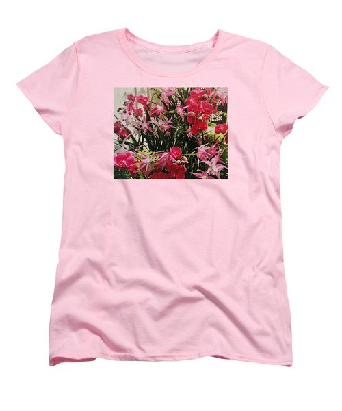 Magenta Orchid Garden Women's T-Shirt (Standard Cut)