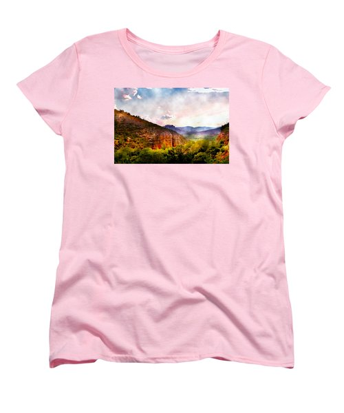 Magical Sedona Women's T-Shirt (Standard Cut) by Ellen Heaverlo