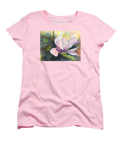 Magnificent Magnolia Women's T-Shirt (Standard Cut) by Lucia Grilletto