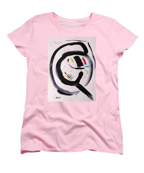 Women's T-Shirt (Standard Cut) featuring the painting Magnifying by Mary Carol Williams