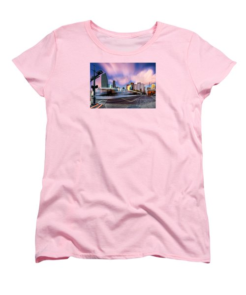 Women's T-Shirt (Standard Cut) featuring the photograph Main And Bell St Downtown Houston Texas by Micah Goff