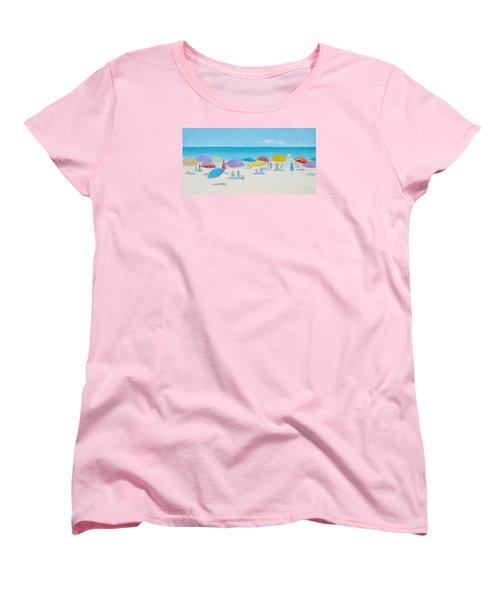Main Beach East Hampton  Women's T-Shirt (Standard Cut) by Jan Matson