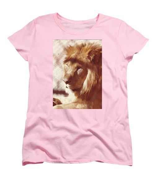 Majestic Lion Women's T-Shirt (Standard Cut) by Margaret Harmon