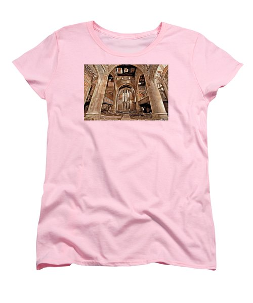Women's T-Shirt (Standard Cut) featuring the photograph Majestic Ruins by Suzanne Stout
