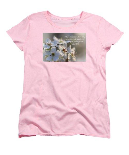 Make A Joyful Noise Unto The Lord Women's T-Shirt (Standard Cut) by Kathy Clark