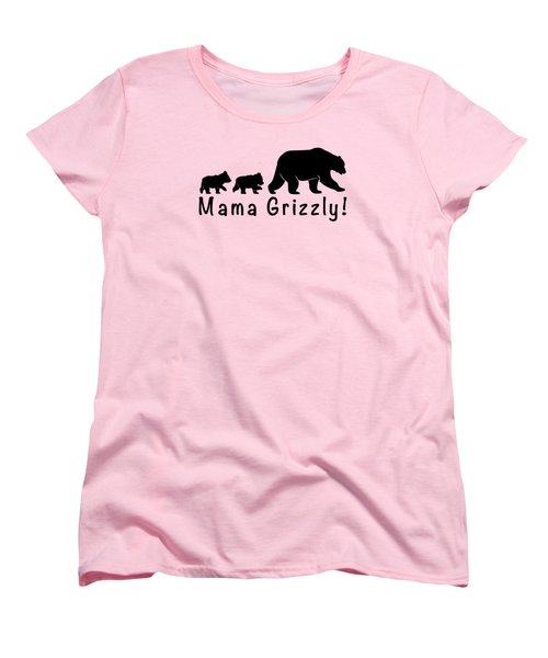 Mama Grizzly And Cubs Women's T-Shirt (Standard Cut) by A C