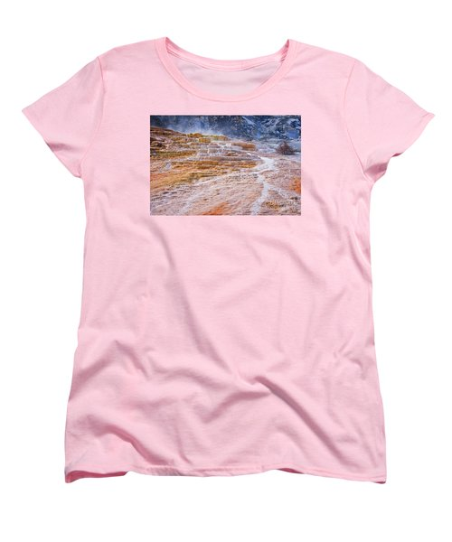Mammoth Terraces Of Yellowstone Women's T-Shirt (Standard Fit)