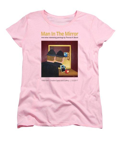 Man In The Mirror T-shirt Women's T-Shirt (Standard Cut) by Thomas Blood