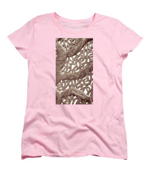Maori Abstract Women's T-Shirt (Standard Cut) by Denise Bird