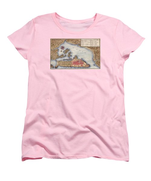Map Of San Juan 1770 Women's T-Shirt (Standard Cut) by Andrew Fare