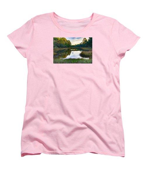 Marsh In The Morning Women's T-Shirt (Standard Cut) by Patricia Schaefer