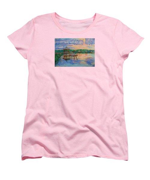 Marsh View At Pawleys Island Women's T-Shirt (Standard Cut) by Kendall Kessler